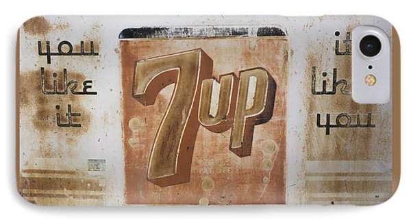 IPhone Case featuring the photograph Vintage 7 Up Sign by Christina Lihani