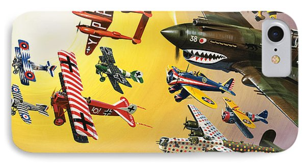 Vintage Aircraft Montage IPhone Case by Wilf Hardy