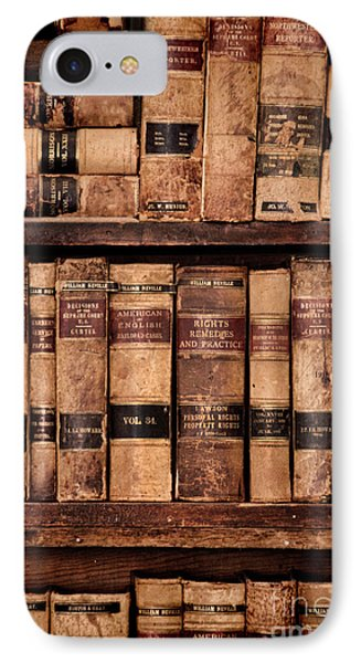 IPhone Case featuring the photograph Vintage American Law Books by Jill Battaglia