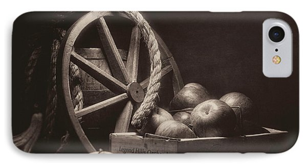 Vintage Apple Basket Still Life IPhone Case by Tom Mc Nemar