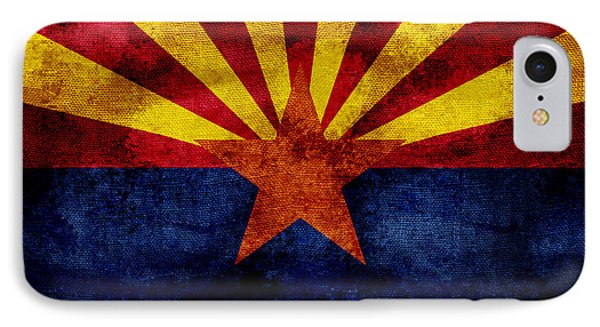 Vintage Arizona Flag IPhone Case by Jon Neidert