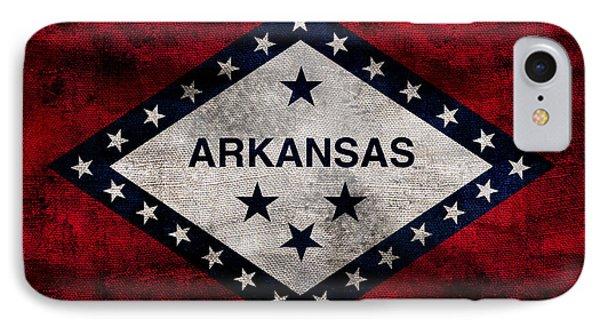 Vintage Arkansas Flag IPhone Case by Jon Neidert