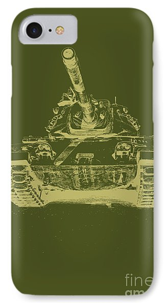 Vintage Army Tank IPhone Case by Emily Kay