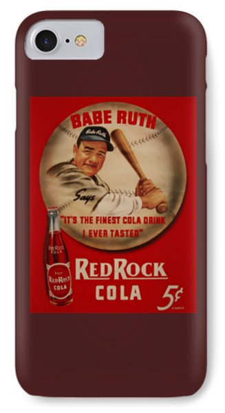 Vintage Babe Ruth Commercial Art IPhone Case by Pd