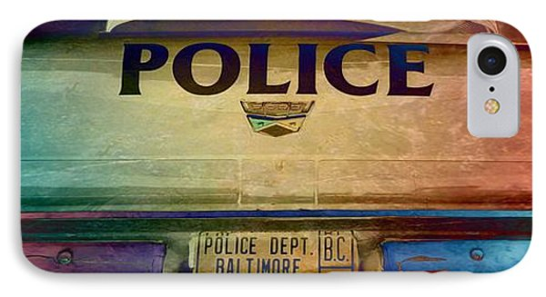 Vintage Baltimore Police Department Car IPhone Case