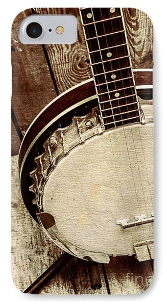 Vintage Banjo Barn Dance IPhone Case by Jorgo Photography - Wall Art Gallery