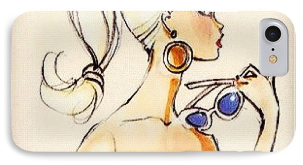Vintage Barbie Sketch #awesome #barbie IPhone Case