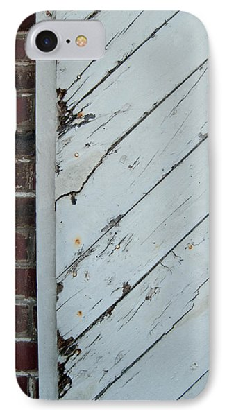 Vintage Barn Door And Red Brick IPhone Case by Jani Freimann