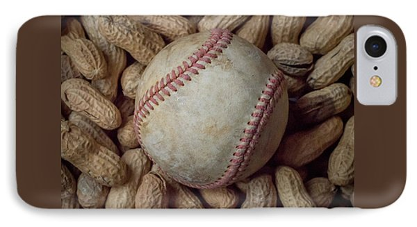 IPhone Case featuring the photograph Vintage Baseball And Peanuts Square by Terry DeLuco