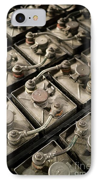 Vintage Battery Cells IPhone Case by Edward Fielding