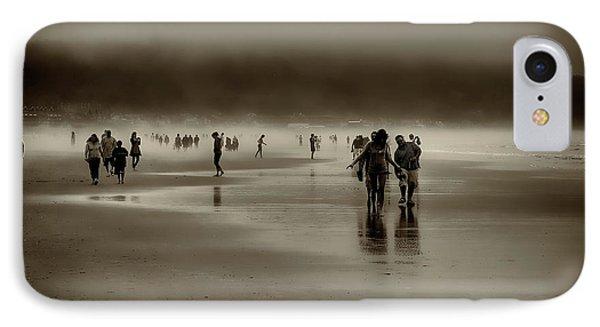 Vintage Beach Walk Phone Case by David Patterson