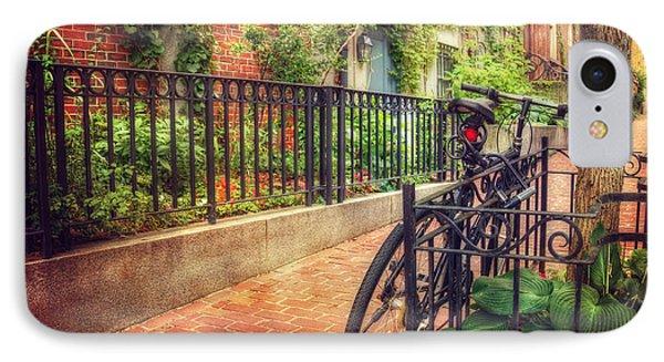 Vintage Beacon Hill Art - Boston IPhone Case by Joann Vitali