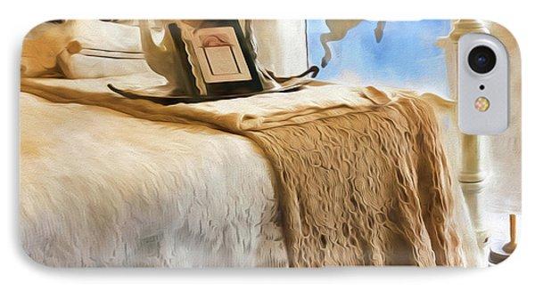 Vintage Bed IPhone Case by Bonnie Bruno