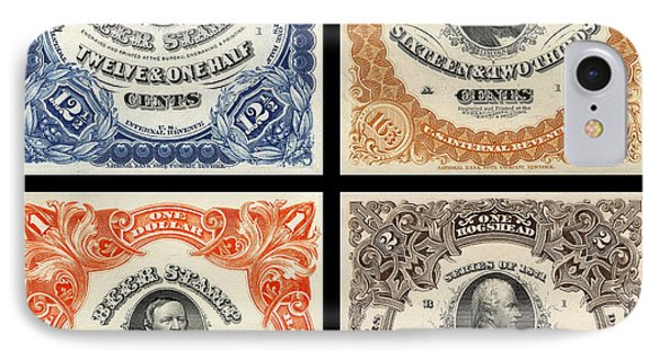Vintage Beer Taxation Stamps  IPhone Case by Jon Neidert