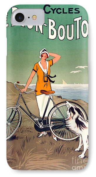 Vintage Bicycle Advertising IPhone 7 Case by Mindy Sommers