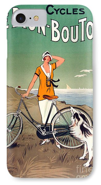 Vintage Bicycle Advertising IPhone Case by Mindy Sommers