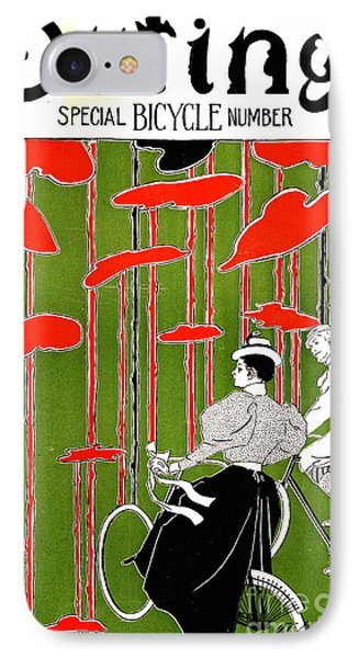 Vintage Bicycle Issue 1896 IPhone Case by Padre Art