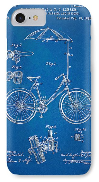 Vintage Bicycle Parasol Patent Artwork 1896 IPhone Case