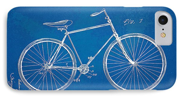 Vintage Bicycle Patent Artwork 1894 Phone Case by Nikki Marie Smith