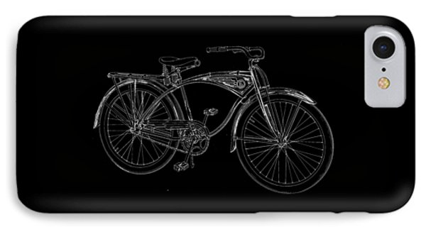 Vintage Bicycle Tee IPhone Case by Edward Fielding