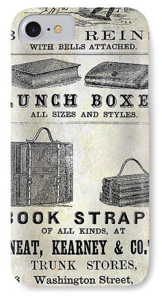 Vintage Boston Advertisement IPhone Case by Jon Neidert