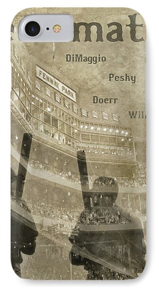 Vintage Boston Red Sox Fenway Park Teammates Statue IPhone Case by Joann Vitali