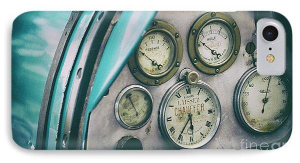 Vintage Bugatti Instruments IPhone Case by Tim Gainey
