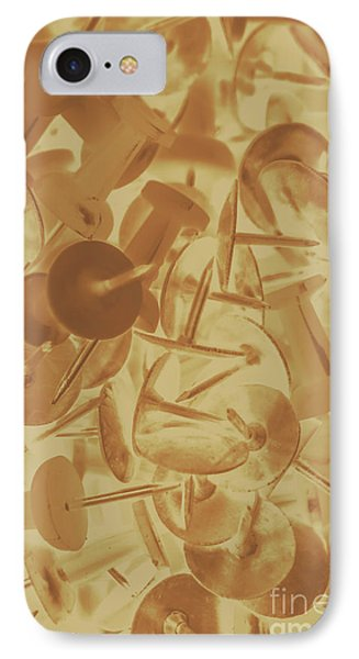 Vintage Business Pins Art IPhone Case by Jorgo Photography - Wall Art Gallery
