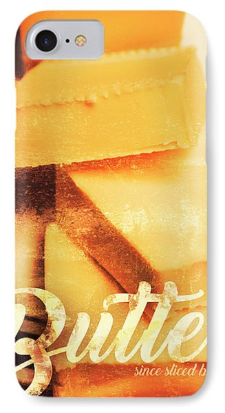 Vintage Butter Advertising. Kitchen Art IPhone Case by Jorgo Photography - Wall Art Gallery