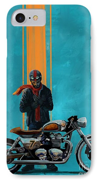 Motorcycle iPhone 7 Case - Vintage Cafe Racer  by Sassan Filsoof