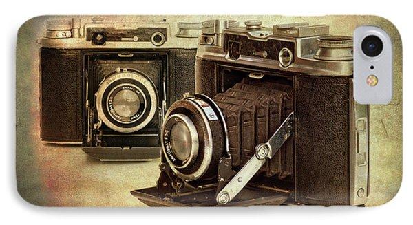 Vintage Cameras IPhone Case by Meirion Matthias