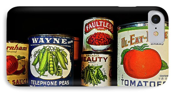 Vintage Canned Vegetables IPhone Case by Joan Reese