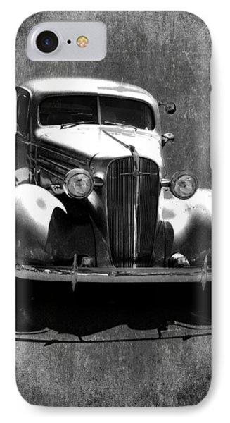 Vintage Car Art 0443 Bw IPhone Case