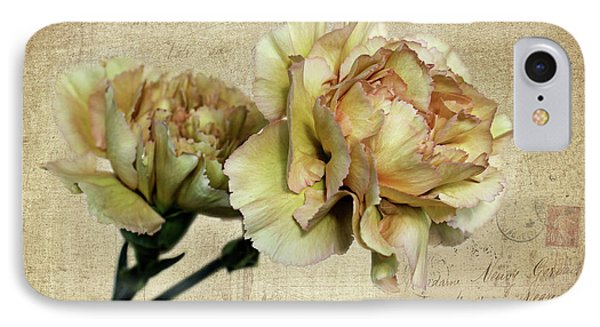 Vintage Carnations IPhone Case by Judy Vincent