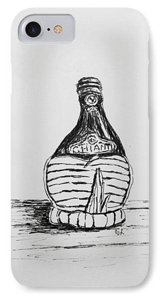 IPhone Case featuring the drawing Vintage Chianti by Victoria Lakes