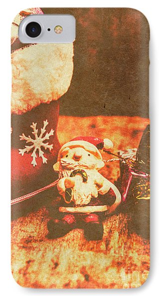 Vintage Christmas Art IPhone Case by Jorgo Photography - Wall Art Gallery