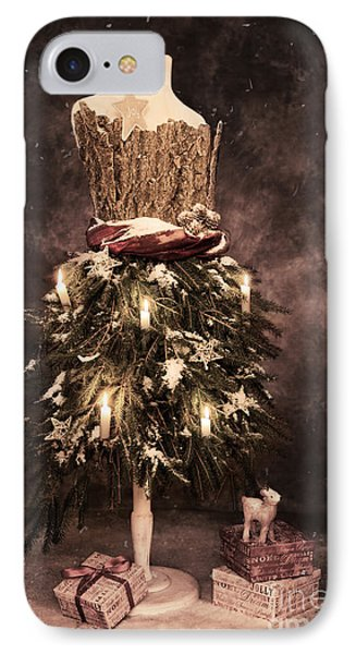 Vintage Christmas Card IPhone Case