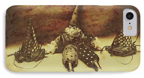 Vintage Clown Doll. Old Parties IPhone Case by Jorgo Photography - Wall Art Gallery