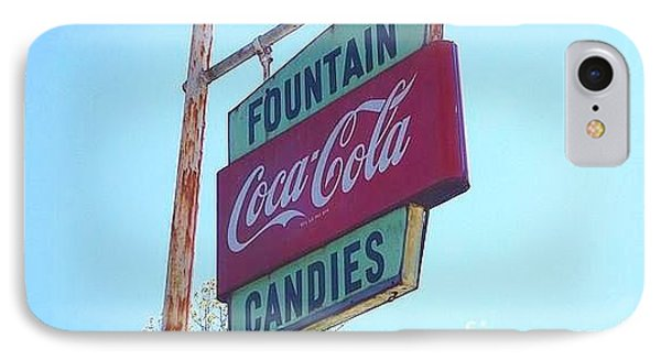 IPhone Case featuring the painting Vintage Coca-cola Sign by Donna Dixon