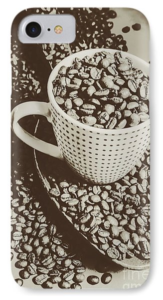 Vintage Coffee Art. Stimulant IPhone Case by Jorgo Photography - Wall Art Gallery