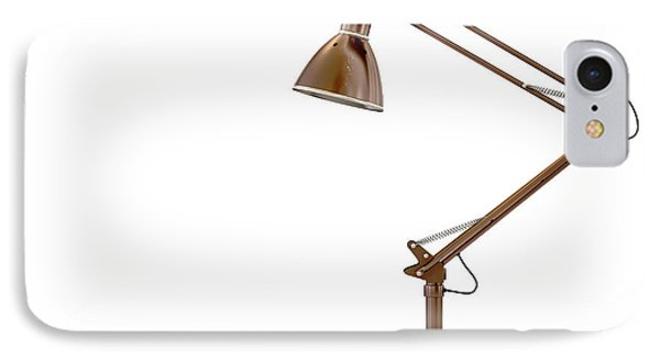 Vintage Copper Desk Lamp IPhone Case by Allan Swart
