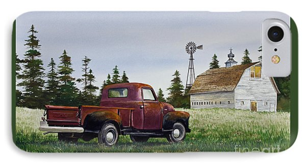 IPhone Case featuring the painting Vintage Country Pickup by James Williamson
