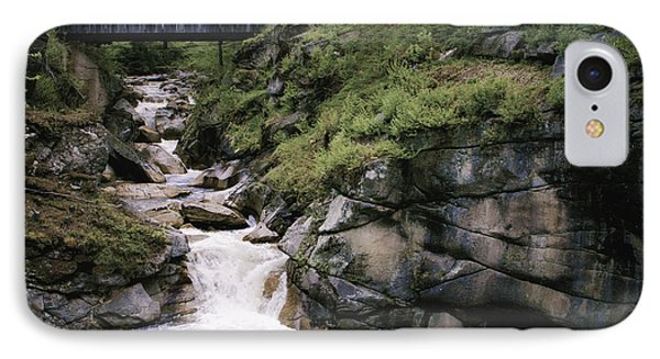 IPhone Case featuring the photograph Vintage Covered Bridge And Waterfall by Jason Moynihan