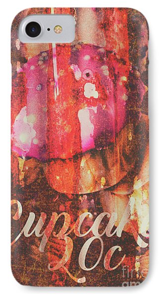 Vintage Cupcake Tin Sign IPhone Case by Jorgo Photography - Wall Art Gallery
