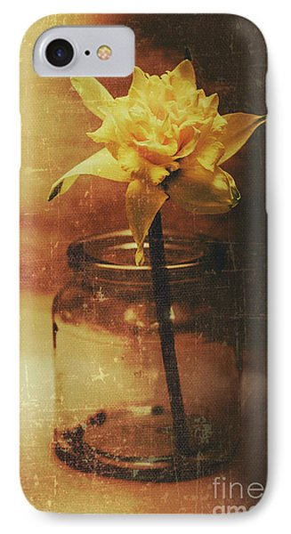 Vintage Daffodil Flower Art IPhone Case by Jorgo Photography - Wall Art Gallery