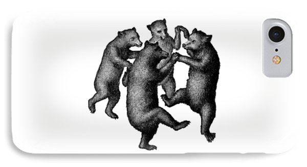 Vintage Dancing Bears IPhone 7 Case by Edward Fielding