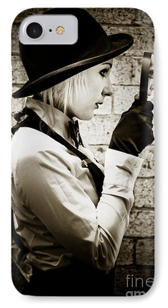 Vintage Detective IPhone Case by Jorgo Photography - Wall Art Gallery
