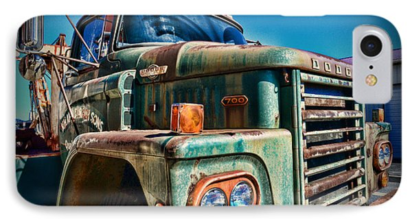Vintage Dodge 700 Diesel Truck  IPhone Case by Paul Ward