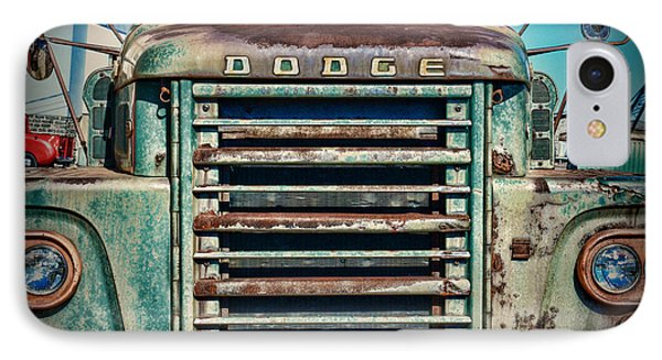 Vintage Dodge Truck Front Grill IPhone Case by Paul Ward