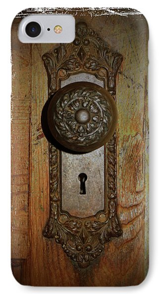 IPhone Case featuring the photograph Vintage Door Knob by Scott Kingery